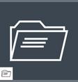 folder thin line icon vector image