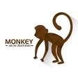 funny monkey design vector image vector image