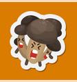 funny mushroom emoticon avatar vector image