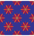 Geometric seamless pattern with fractal flower in vector image