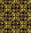 gold flower pattern vector image vector image