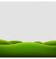 green landscape isolated transparent background vector image vector image