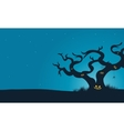 Halloween scary dry tree silhouette vector image vector image