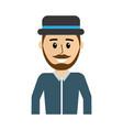 happy man wearing hat and shirt vector image vector image