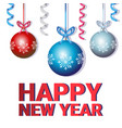 happy new year merry christmas concept winter vector image