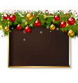 holiday rectangular frame vector image