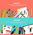 horizontal stationery banner set vector image vector image