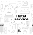 Hotel service pattern vector image