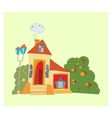 house with big windows vector image vector image