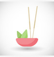 incense burning flat icon vector image