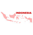 indonesia map - mosaic of lovely hearts vector image vector image