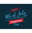 July fourth United Stated independence day vector image vector image