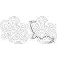 pretzels maze vector image vector image