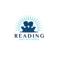 reading child logo designs simple modern vector image