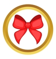 Red bow icon vector image