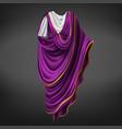 roman toga ancient commander emperor male dress vector image