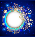 round jewelry background banner decorated with vector image vector image
