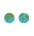 set of abstract earth globes vector image vector image