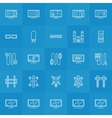 Set of TV icons vector image vector image