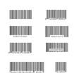 simple bar code set vector image