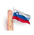 slovenia flag waving vector image vector image