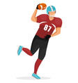 sportsman isolated man play in american football vector image vector image