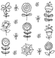 spring doodles with hand draw vector image vector image