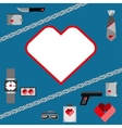 St Valentines Day Symbols mens Accessories Icons vector image vector image