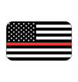 thin red line firefighter flag vector image vector image