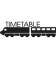 train icon with timetable word vector image vector image