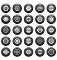 vintage badges and labels icons set vetor black vector image vector image