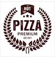 Vintage pizza logo stamp vector image vector image
