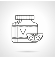 Vitamins can flat thin line icon vector image vector image