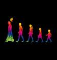 walk with jesus follow jesus vector image