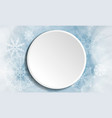 winter christmas white button vector image