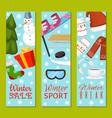 winter sale break set of banners vector image vector image