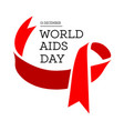 world aids day with red vector image