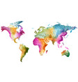 world map watercolor colorful vector image