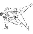 An hand drawn from series Martial Arts JUDO vector image