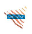 Abstract logo pyramid for cosmetics vector image vector image