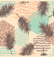 abstract seamless pattern with animal print vector image