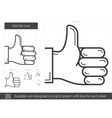 Add like line icon vector image vector image