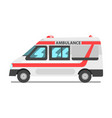 ambulance service car emergency medical service vector image vector image