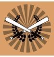 baseball bats wreath vector image vector image