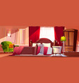 bedroom in morning mess vector image vector image
