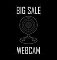 big sale of web camera for computer vector image