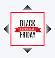 black friday super sale banner with ribbon vector image vector image