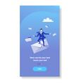 businessman standing envelope papper letter vector image vector image