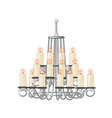 chandelier for living room in retro style vector image