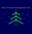 christmas new year card - translucent tree stars vector image